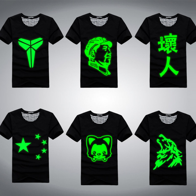 Luminous lovers short-sleeve summer male luminous short-sleeve T-shirt short-sleeve o-neck luminous lovers