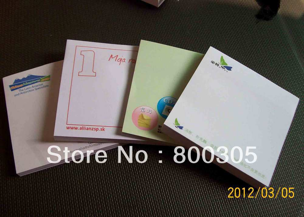 custom logo  note pad/notepad 75*75mm*25sheets 100pcs /lot<br><br>Aliexpress