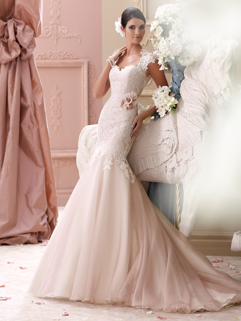Popular light pink wedding dress buy cheap light pink for Pink wedding dresses pictures