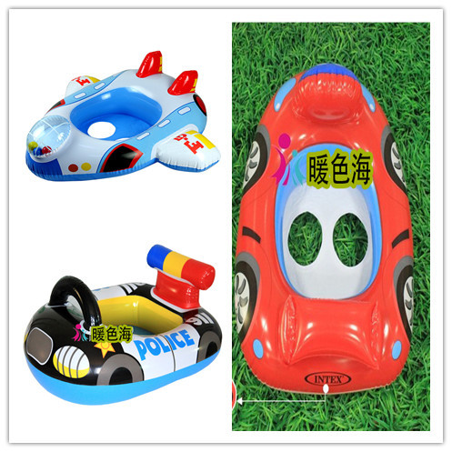 Summer Water Toys Baby Swim Float Boat In 3 Colors For Option Baby Ring Seat For 1-3 Years Kids Playing With Pump For Free(China (Mainland))