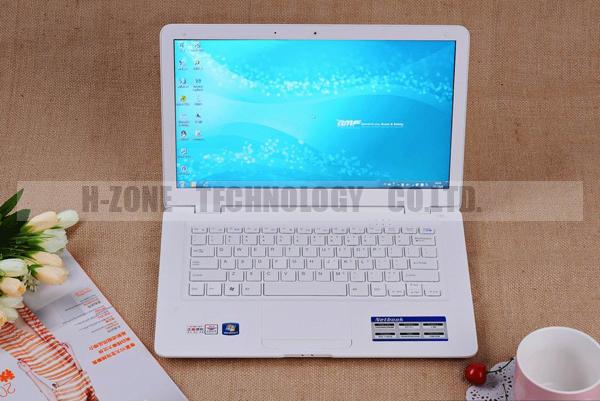 13.3 Inch Ultra Thin Laptop Mini Notebook Computer Atom D2500 Dual Core 1.86GHz 4GB RAM 320GB HDD WIFI Webcam HZONE A133(Hong Kong)
