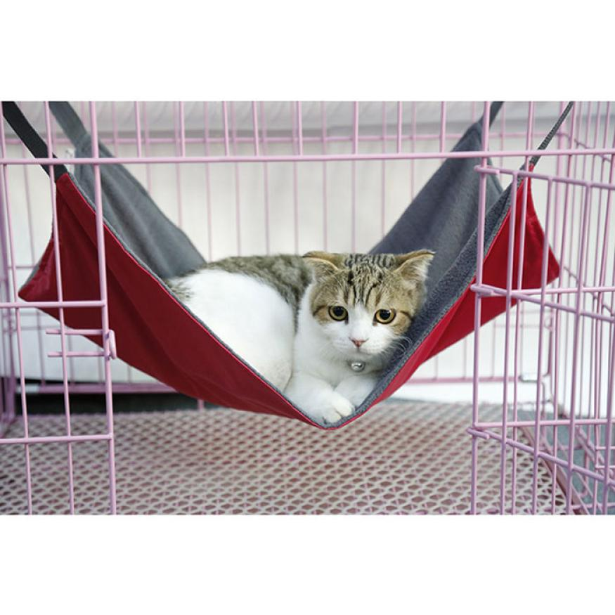 2015 Summer And Winter Dual Use Cat Bed Mat Oxford Fabric Pet Cages Hammock Under The Chair Smile(China (Mainland))