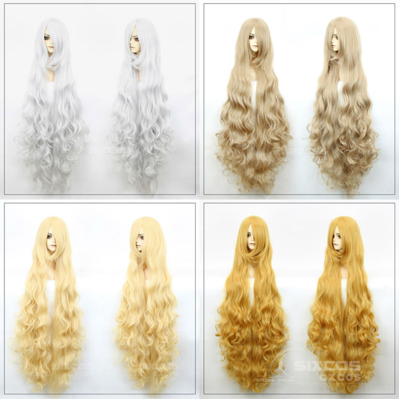 120cm COSPLAY LOLITA WIGS anime Harajuku long wavy Curly wig woman Natural Synthetic Hair Sexy Blonde Wigs Female Peruca Pelucas - SIXCOS Official Store store