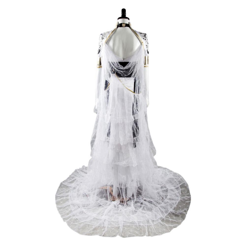 Final Fantasy XV FF 15 Lunafreya Nox Fleuret Cosplay Costume Dress Gown Uniform