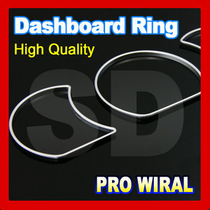 for Proton Wira Silver Cluster Rings Silver Gauge Rings Silver Dashboard Rings ABS