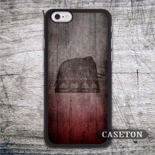 Elephant With Red Wood Case For iPhone 7 6 6s Plus 5 5s SE 5c and For iPod 5 High Quality Classic Phone Cover Drop Ship