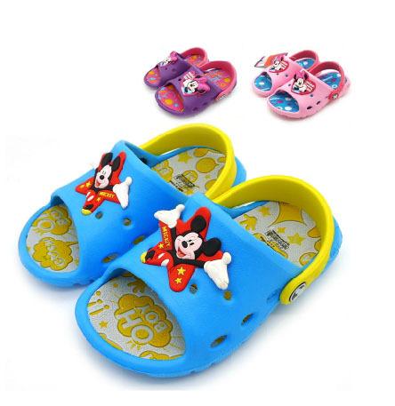 TX2 Fashion Design Summer Kids Garden Cartoon EVA Shoes/Children Beach Sandals Slippers blue pink purple - Cherry .F's store