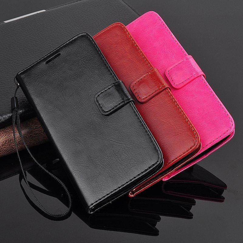 Retro Crazy Horse Grain Flip Leather PU 64 Card Holder Stand Strap Case Motorola Moto G2 G 2 XT1068 XT1069 Phone - Best Accessory store