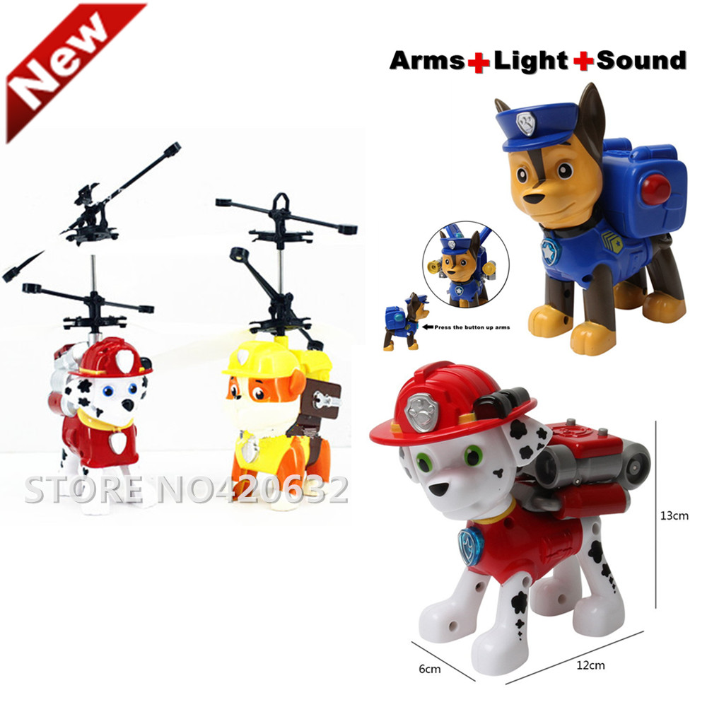 New Hot 2016 Russian Kids Toy Puppy Patrol Patrulla Canina Toys For Boy Canine Patrol Chase Marshall Rubble Flying RC98<br><br>Aliexpress