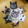 24 pcs Printer Cats Coin Purse Zipper Fashion Women's Wallets Styles Change Bag Cheap Coins bags Child Coins Holder Pouch Purses
