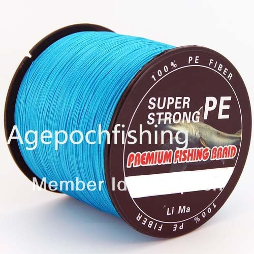 Free shipping&New arrival  1000m 40lb 6 strand fishing line blue color