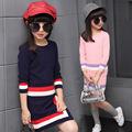 Girls Clothing sets 2016 Autumn Winter Girls Clothes Knitwear Sweater Skirt Dress Children Clothing Set Kids