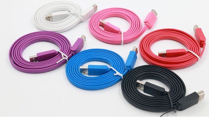 1pcs/lot High Speed 15FT 5m Flat Extension Cord USB 2.0 A Male to Female Data Cable(China (Mainland))
