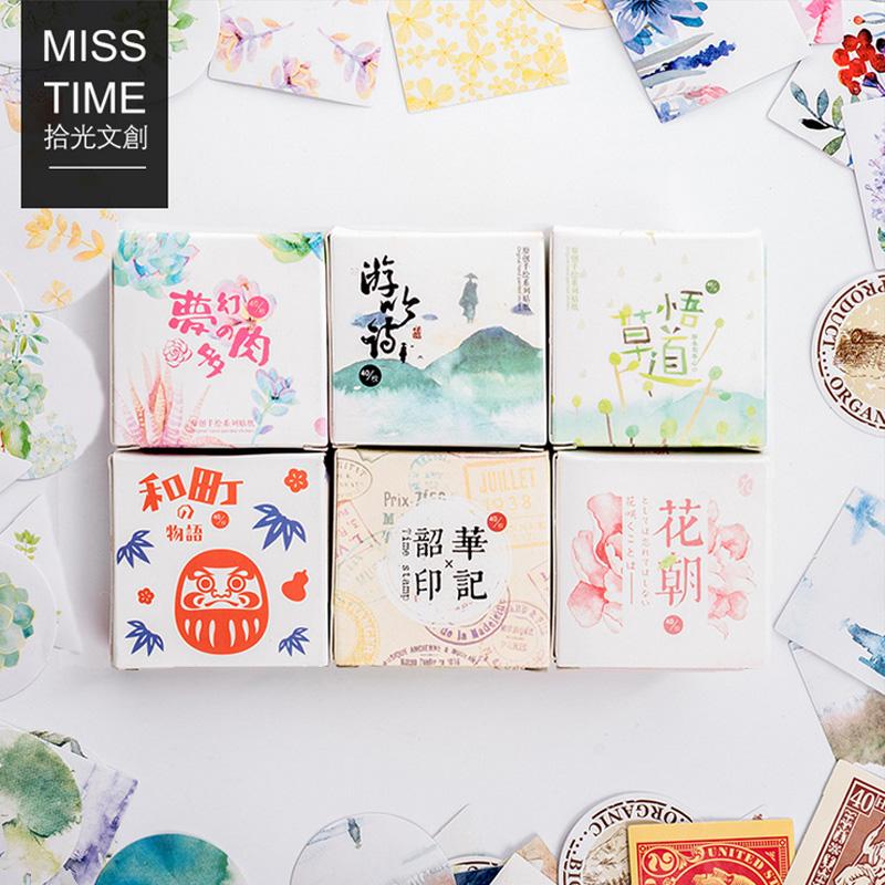 40 pcs/lot Mini succulent plants paper sticker decoration DIY ablum diary scrapbooking label sticker kawaii stationery(China (Mainland))