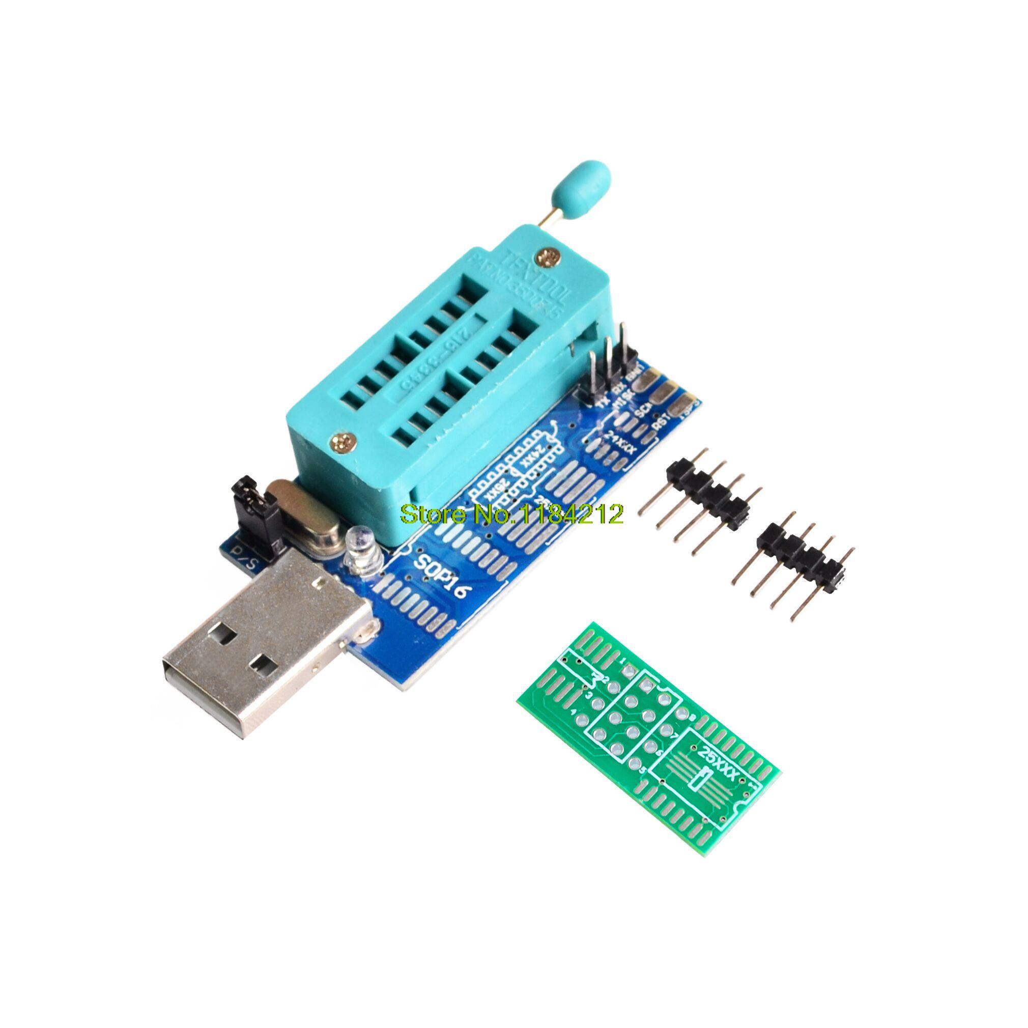 Bios Board MX25L6405 W25Q64 USB Programmer LCD Burner CH341A Progammer for 24 25 Series(China (Mainland))