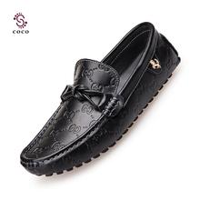 2015 Mode-stil Aus Echtem Leder Männer Wohnungen Schuhe Casual Weiche Ledermüßiggänger Männer Schuhe High Quality Mokassins Schuhe(China (Mainland))