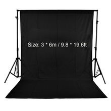3 * 6m / 9.8 * 19.6ft Photography Studio Backdrop Nonwoven Fabric Photo Backdrop Background Screen White/Black/Green(optional)(China (Mainland))