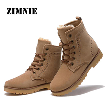 ZIMNIE High Quality Women Boots Winter Casual Brand Warm Shoes Men Unisex Men Boots Leather Plush Fur Fashion Boots Shoes Woman(China (Mainland))