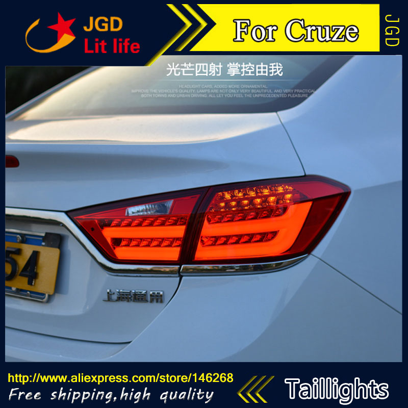 Car Styling tail lights for Cruze 2015 2016 taillights LED Tail Lamp rear trunk lamp cover drl+signal+brake+reverse(China (Mainland))