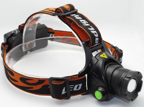 CREE XML T6 LED Headlight Headlamp Head Torch Flashlight 3 Modes 2000lm AC Charger + 2 X 18650 Battery Black(China (Mainland))