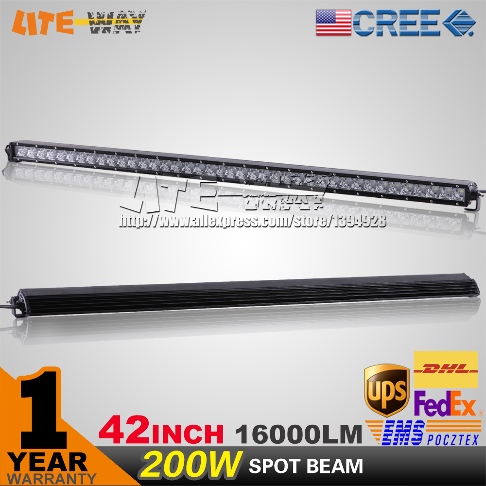 42INCH 200W CREE LED WORK LIGHT BAR SUPER SLIM SPOT BEAM FOR OFF ROAD 4x4 TRUCK DRIVING LIGHT SECKILL 240W/300W(China (Mainland))