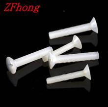 Buy 100pcs white M3*6/8/10/12/15/18/20 Nylon Plastic insulation Countersunk Head Machine Screw for $1.68 in AliExpress store