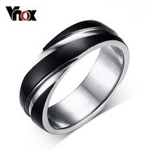 3 color wedding ring for men / women 316 stainless steel ring black / gold plated(China (Mainland))