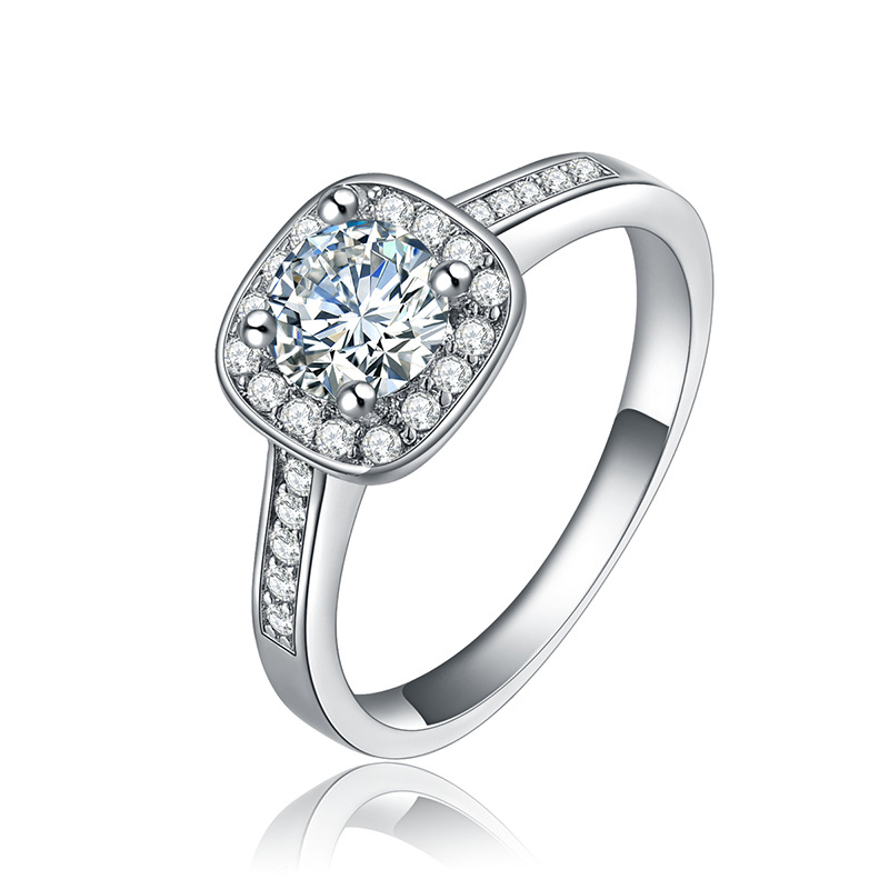 wedding rings for women platinum plated jewelry luxury rings engagement square bague aaa. Black Bedroom Furniture Sets. Home Design Ideas
