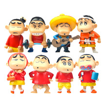 8PCS/lot 5CM Crayon Shin-chan Action Figures TOYS PVC Cute Baby's Toy Dolls For Birthday Gift