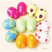 50pcs/ lot  Easter eggs as children's toys lottery props christmas decoration multicolor and varieties patterns(China (Mainland))