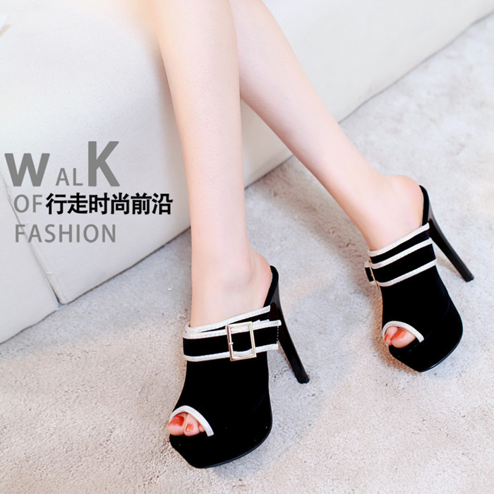 2015 new European fashion female high-heeled sandals women pump female slippers date shoes size 34-43<br><br>Aliexpress