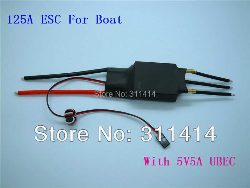 2pcs/lot Remote Control Boat 125A ESC For Electric RC Boat + Free Shipping High Quality Good Price(China (Mainland))