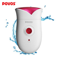 POVOS Fully Washable Single Blade Reciprocating Lady's Body Hair Electric Shaver Epilator Rechargeable PS1088
