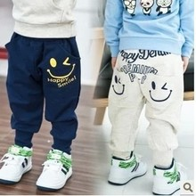 Free shipping Retail 2014 New spring autumn cotton kids pants Boys Girls casual pants 2 colors kids sports trousers harem pants(China (Mainland))