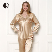 2016 New Arrival Men's Summer Silk Casual Pajama Sets Couple Sleepwear & Free Shipping AP257(China (Mainland))