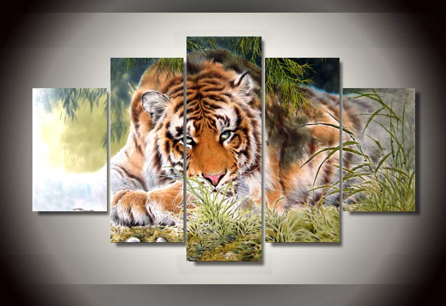 Tiger Painting On Canvas Room Decoration Print Poster Picture Canvas Wall Art All Decor Painting Modular picture(China (Mainland))