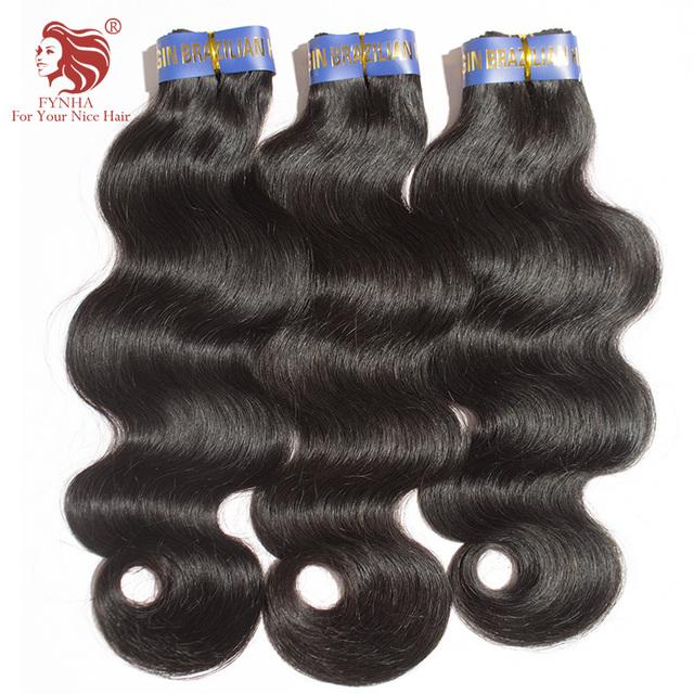 "3pcs/lot Brazilian body wave hair weaves 100% grade 6A virgin human hair extensions 8""-34"" mix length fast free shipping"