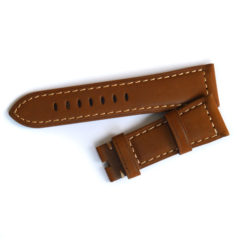 Brown Strap 24MM/26MM for Panerai Straps Handmade Leather Watchbands Free Shipping!<br><br>Aliexpress