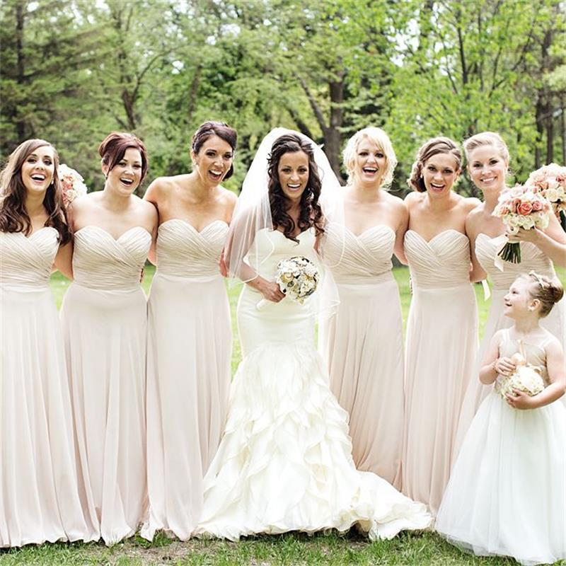 Hot sale pleat chiffon long bridesmaid dresses off the for Plus size wedding dresses minneapolis mn