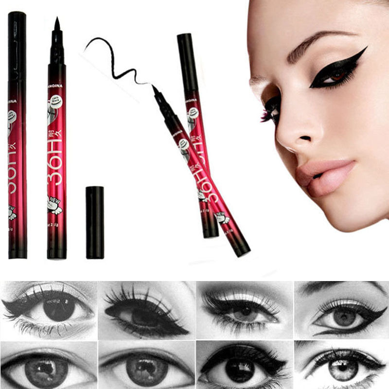 1 X Waterproof  Black Eyeliner Liquid Make Up Beauty Comestics Eye Liner Pencil Makeup Beauty Cosmetic Tools High Quality(China (Mainland))