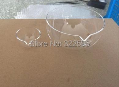 100mm quartz glass FLAT BOTTOM  evaporating dish one pc free shipping