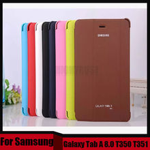 3 in 1 Business Smart Pu Leather Book Cover Case For Samsung Galaxy Tab A 8.0 T350 T351 T355 + Stylus + Screen Film