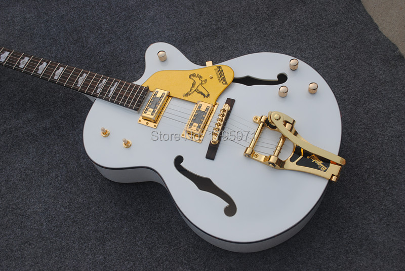 Custom shop Gretsch Jazz Electric Guitar Golden Hardare with bigsby(China (Mainland))