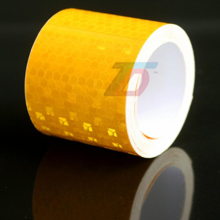 В продаже 5 см x 5 м желтая стрелка квадраты марк безопасности светоотражающие ленты наклейки стайлинга автомобилей самоклеящиеся предупреждение ленты высокое видимость