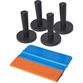 5 IN 1 Window Tint Tool Kit Include 1x 3M Suede Felt Squeegee 4x Gripper Magnet