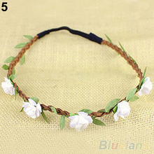 Boho Style Floral Flower Women Girls Hairband Headband Festival Party Wedding  01NX 2VSC(China (Mainland))