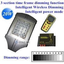 20W  Intelligent Wireless Dimming LED solar light led solar light DC12V IP65 30w led street lamp wireless remote-control(China (Mainland))