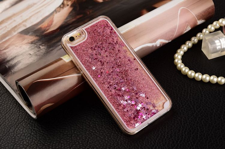 New Fashion Liquid Glitter meteor sand sequins Colorful Dynamic Transparent Hard Mobile Phone cases For iphone4s/5 SE/6 6s/6Plus