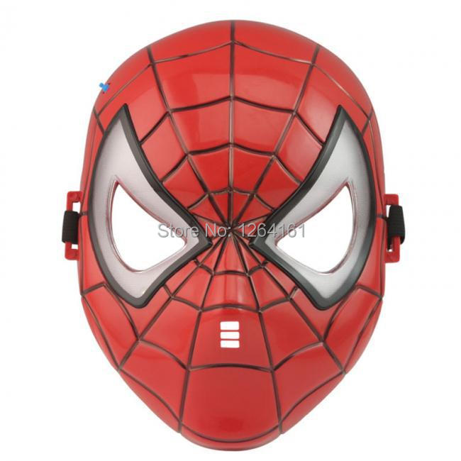 SpiderMan Mask Party for Boys Children Roleplay Make up Spider Man Mask Brithday Chrismas Gift Halloween Cosplay Free Shipping(China (Mainland))