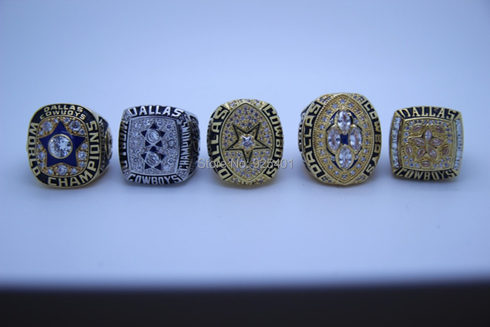 Dallas Cowboys Rings Copper Plating Gold Replica Championship National Football League Super Bowl - born4beauty store